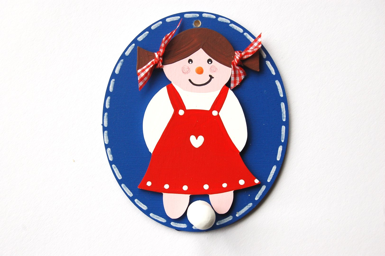 Kleiderhaken clipart  Kleiderhaken oval Mädchen - Holzlotte
