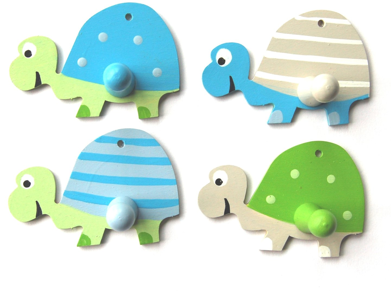 Kleiderhaken clipart  Kleiderhaken Schildkröten - Holzlotte